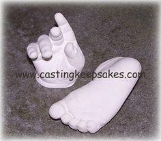 baby plaster molds