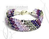 Deep Colorful Swarovski Crystal Bracelet by CandyBead por candybead