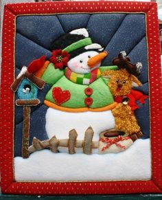 patchwork sin aguja navidad moldes - Buscar con Google Christmas Applique, Christmas Sewing, Christmas Crafts, Christmas Decorations, Christmas Ornaments, Snowman Crafts, Felt Crafts, Fabric Crafts, Animal Quilts