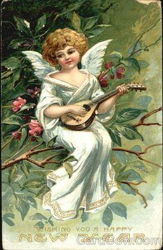 Wishing You A Happy New Year Angels & Cherubs