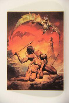 L010266 Boris Vallejo 1991 Card / The Last Stand - 1978 - Card #69 / ARTWORK