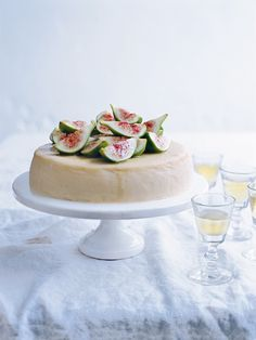 Ricotta Cheesecake and Moscato Figs | by Donna Hay - Recipes | via acourseofevents