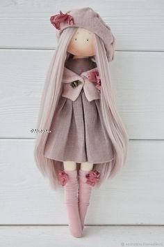 Interior Doll Nursery Doll Textile Doll Rag Doll Pink Doll Art Tilda Doll Handmade Doll Fabric Doll Portrait Doll by photo Gift by Yulia K - Her Crochet Love Knitting, Pink Doll, Fabric Toys, Sewing Dolls, Waldorf Dolls, Soft Dolls, Doll Crafts, Cute Dolls, Amigurumi Doll