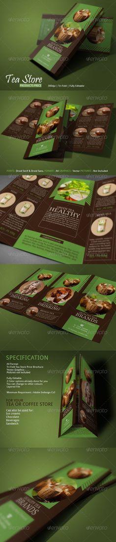 Tea Store Best Tea Brochure Template #design Download: http://graphicriver.net/item/tea-store-best-tea-brochure/7327907?ref=ksioks
