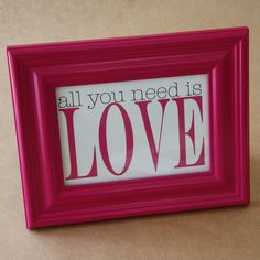 All you need is love frame Love Frames, All You Need Is Love, Day