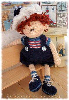 Toy Knitting Pattern  / knitted doll / Knitting pattern boy /