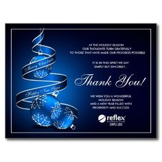 46 best business holiday thank you cards images on pinterest corporate christmas thank you cards with logo m4hsunfo