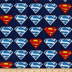 Superman Flannel Logo Blue from @fabricdotcom  Licensed to Eugene Textiles by D. C. Comics, this double napped (brushed on both sides) flannel fabric is perfect for quilting, crafts and apparel. This is a licensed product and intended for personal consumption only. Colors include red, yellow and shades of blue.