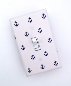 anchor nursery bedding | Anchor Light Switch Plate / Nautical Nursery Decor / by SSKDesigns, $ ...