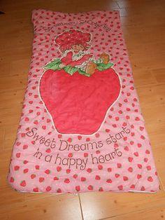 Strawberry Shortcake Sleeping Bag #80s #1980s #childofthe80s