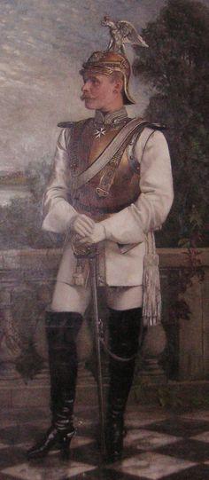 Ferdinand Rogalla von Bieberstein, in the uniform of the Prussian Garde du Corps