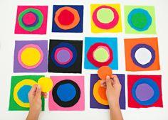 DIY KANDINSKY CIRCLES FELT BOARD: ARTIST PROJECT FOR KIDS