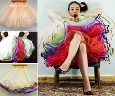 DIY Colorful Layerred ruffle skirt Tutorial