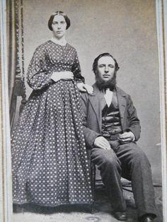 Handsome Couple Pregnant Wife Tax Stamp Civil War CDV Photo Rockford Illinois   eBay
