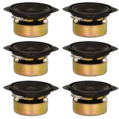 6 Goldwood Sound Shielded 4 inch Woofers 70 Watt each Replacement Speakers, Black Gw, Speakers, Color Black, Silver, Products, Circuits, Money, Music Speakers, Black Colors