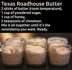 Make and share this Texas Roadhouse Butter recipe from Genius Kitchen. Make and share this Texas Roadhouse Butter recipe from Genius Kitchen. Texas Roadhouse Butter, Texas Roadhouse Recipes, Texas Roadhouse Rolls, Texas Roadhouse Steak Seasoning, Think Food, Love Food, Chutney, Flavored Butter, Homemade Butter