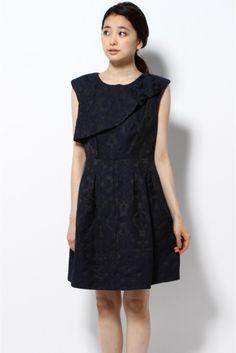 ◇THE DRESS BY FLICKA ジャガードフリルワンピース