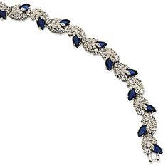 Silver and Sapphire Jaqueline Kennedy Collection