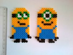 Despicable me Minion hama beads magnet by akashalondon