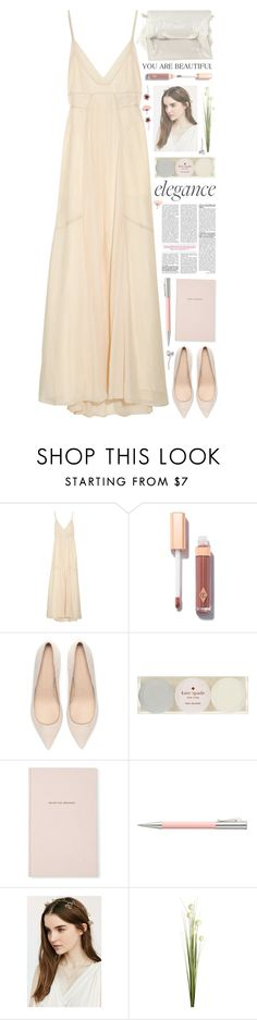 """""""Set 856 ft. Max Azria Gauze Maxi Dress"""" by yen-and-len ❤ liked on Polyvore featuring Max Azria, Charlotte Tilbury, Zara, Kate Spade, Faber-Castell and Pier 1 Imports"""