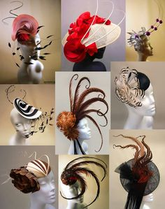 Give me the place to go and my fascinator would be secured! Fancy Hats, Cool Hats, Steampunk Hut, Idda Van Munster, Crazy Hats, Millinery Hats, Cocktail Hat, Kentucky Derby Hats, Love Hat