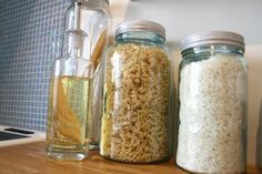 Decorative Storage, Mason Jars, Easy Diy, Glass, Kitchen, Ideas, Cooking, Drinkware, Corning Glass