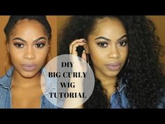 """DIY Quick & Easy """"No Sew"""" Curly Wig Ft. Beauty Forever Hair - YouTube"""