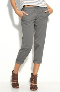 grey capri pants - Pi Pants