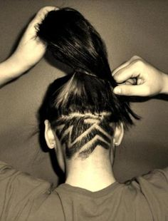 Nape undercut on Pinterest | Undercut, Undercut Designs and Shaved ...
