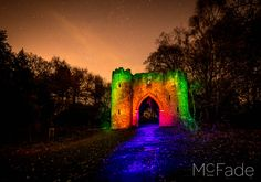 Castle - 61 Roundhay Park Light Painting workshop photos I have been working on in Lightroom