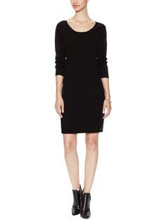 Wool Cashmere Faux Leather Trim Dress by Firth at Gilt