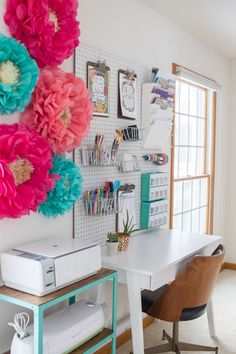 bright, colorful office makeover