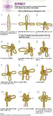 Artesanal: Nó chinês ( Asian Knot)