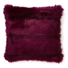 Kilbride Faux Fur Ruby Cushion