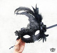 Máscara de la mascarada máscara de la mascarada negra Mardi