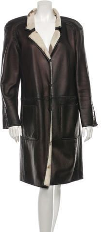 Fendi Long Leather Coat
