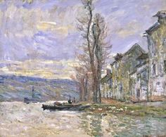 Claude Monet, River at Lavacourt 1879 on ArtStack #claude-monet #art