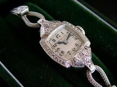 Vintage Cartier diamond watch