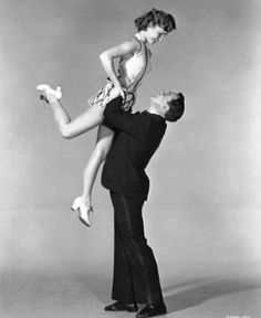 "Debbie Reynolds and Gene Kelly. Fun Fact: she did not know how to dance before ""Singing in the Rain."" Debbie Reynolds took tap lessons for 6 months before they shot the movie."