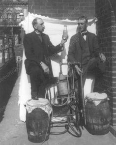 This picture is from the and shows a couple of guys by an old Bootleg Still, during the days of prohibition. Prohibition came to an. Old Pictures, Old Photos, Vintage Photographs, Vintage Photos, Hooch, Roaring Twenties, The Twenties, Two Men, Distillery