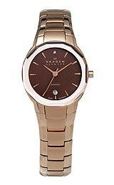 Skagen Black Label with Diamond Women's watch : Dress watch, Precision Swiss quartz movement, Polished rose-gold-tone hands and sweep seconds, G Skagen Watches, Halloween Sale, Beautiful Watches, Rose Gold Plates, Pantone, Gold Watch, Omega Watch, Diamond, Lady