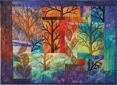 Jill Jenson, 'Forest Walk' art quilt - will someone replicate this for me in every season???!!!!
