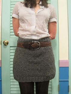 Ravelry: Honeycomb Pencil Skirt pattern by Nora Frankel