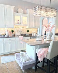 Home Decor Kitchen .Home Decor Kitchen Layout Design, Home Design, Interior Design, Interior Plants, Interior Modern, Interior Ideas, Interior Inspiration, Pink Kitchen Decor, Elegant Homes