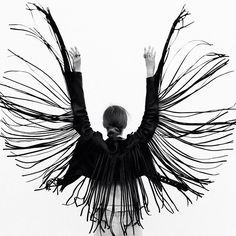 This is what fringe jackets are made for : portable angel wings