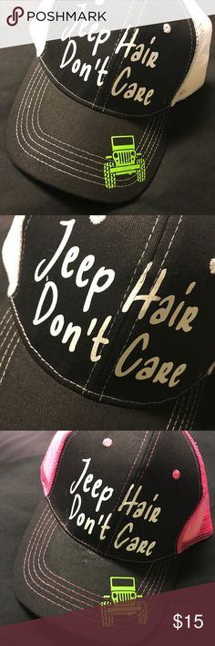 Jeep Hair Don t Care Baseball Cap NEW Made these myself. Both have slight abf04786d01f