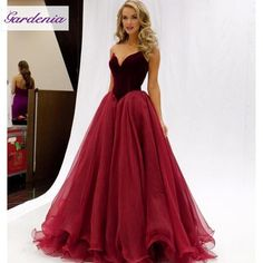 Stunning Long Puffy Princess Burgundy Ball Gown Prom Dresses 2016 V Neck Organza Femmes Wine Red Backless Dresses Party Evening Wear Simple Evening Dress Size 18 Evening Dresses From Gaogao8899, $96.13| Dhgate.Com