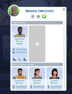 Mod The Sims: Hire One Additional Host - Restaurant by lindseyy • Sims 4 Downloads