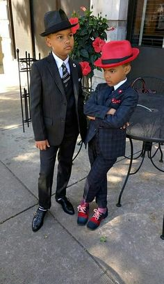 """For ring bearer&sign carrier """"NEW: Harlem days and Harlem nights. Baby Boy Swag, Kid Swag, Baby Boy Fashion, Kids Fashion, Fashion Clothes, Cheap Fashion, Harlem Nights Theme Party, Outfits Niños, Jean Outfits"""