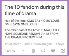 Well i feel like Niall is old enough to handle his own life but thats me